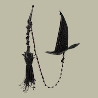 "Vintage Halloween Witch's Hat and Broom, Double Brooch, by David Mandel for ""The Show Must Go On"""