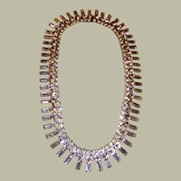 "David Mandel for ""The Show Must Go On""-Large Clear Rhinestone Necklace"