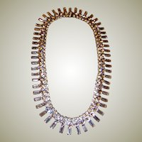 """David Mandel for """"The Show Must Go On""""-Large Clear Rhinestone Necklace"""