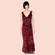 Amazingly Beautiful Escada Voided Silk Velvet Gown-Germany