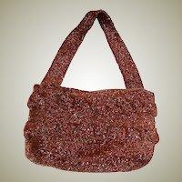 1940's Copper Beaded , Single-Handled, Handbag