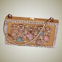 1950's Lavishly Embellished Carryall/Compact Purse/Handbag