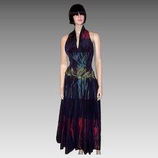 """Ardause Paris"" Silk Taffeta Halter Neck Gown"