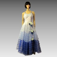 1950's Tulle Ball Gown with Ombre Treatment