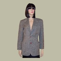 1940's Women's Tweed Blazer with Red Bakelite Buttons