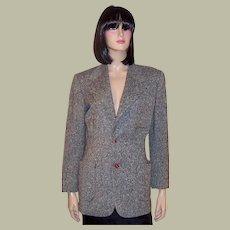 1940's Women's Tweed Blazer with Red Bakelite Buttons