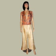 Rare Art Deco Printed Pajamas/Lounging Set