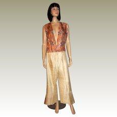 Rare Art Deco Printed Pajamas/Lounging Set