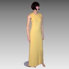 Halston (1972) Cashmere Sleeveless Sweater Dress