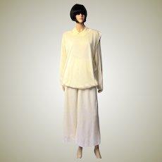 Issey Miyake Soft White Two-Piece Ensemble for Bergdorf Goodman