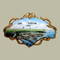 Diminutive Jamestown Exposition 1907 Brooch