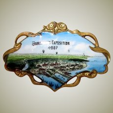 Diminutive Jamestown Exposition 1907 Brooch