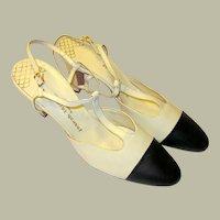 Joseph LaRose 1960's Vintage, Two-Toned, T-Strap Shoes