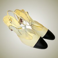 Joseph LaRose 1960's Vintage, Two-Toned, T-Strap Shoes