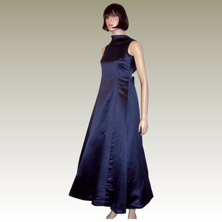 Stark, Simple. and Divinely Designed Midnight-Blue Gown : Patricia ...