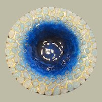 "Mid-Century Modern, Enameled Glass on Copper ""Vide Poche"" Dish by Roger Duban and Christian Christel-Limoges, France"
