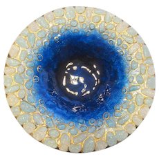 "Mid-Century Modern, Enameled Glass on Copper ""Vide Poche"" Dish by Roger Duban and Christian Christel-Limoges, France"