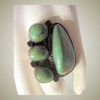 Impressive Native American, Old PawnTurquoise and Sterling, Ring