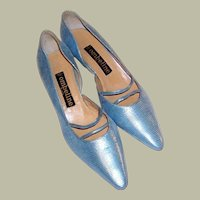 Ombeline-Paris-Powder Blue Metallic Pumps