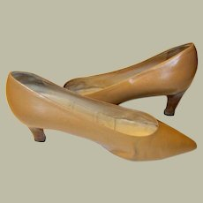 """Prada-Milano"" Nude Pumps, Made in Italy, Size 38.5"