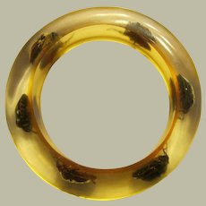 Authentic 1960's Lucite Bracelet with Beetle Inclusions