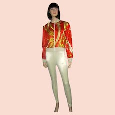"""Sachi New York""-Orange and Gold  Embroidered Jacket"