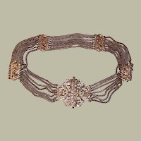 Old Indian Silver-Toned Belt (Unmarked)