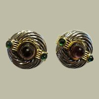 """Maresco"" 1980's Vintage, Clip-On Earrings"
