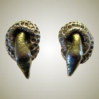 Hand-Made, Sterling, Hallmarked Snake Earrings
