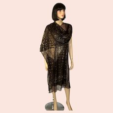 1920's Art Deco Egyptian Assuit Dress and Shawl