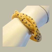 1920's, Egyptian Revival, Celluloid Asp Coiled Bracelet