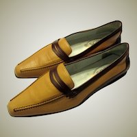 The Essential Women's Flat, Hand and Bespoke Made by Tod's, in Brown and Tan, Size 40 or Size 9