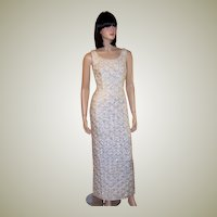 1960's B. Altman & Company White Sequined & Beaded Gown (Hong Kong)