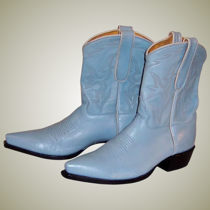 6989c20fdf534 Baby Blue Leather Caborca Cowboy Boots