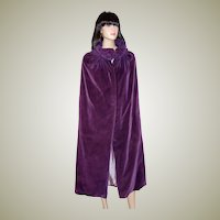 1920's Violet Velvet Cape-Bourne & Hollingsworth Ltd. London