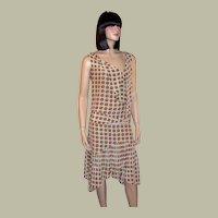 Mayle-Silk, Sleeveless Tie Neck Dress with Pleated Hemline