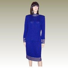 5a35a21033c St. John Royal Blue Evening Suit   Patricia Jon s Finest