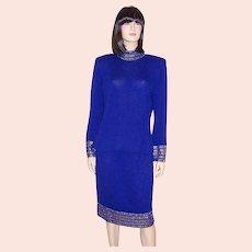 St. John Royal Blue Evening Suit
