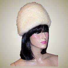 1960's Vintage, White Mink Hat