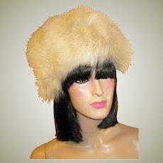 1960's Stunning & Full Wintry White Fox Fur Hat