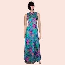 1970's Liberty House of Hawaii Floor Length Gown
