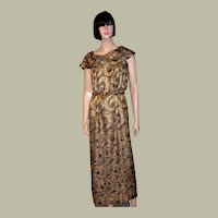 Black and Gold French Lame, Art Deco Masterpiece of Wearable Art