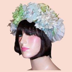 1960's Floral Chapeau by Betmar for B.Altman & Co.