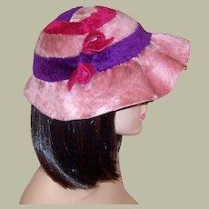 Adorable Pink, Violet, & Magenta Custom-Made Chapeau