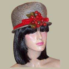 Mr. John-Black & White Straw Hat