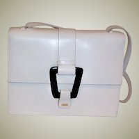 Gucci-Fine White Leather Summertime Handbag