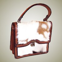 1960's, Tano of Madrid, Spain, Pony Skin Handbag