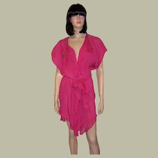 La Perla-Raspberry Sorbet House Wrapper or Cover-Up