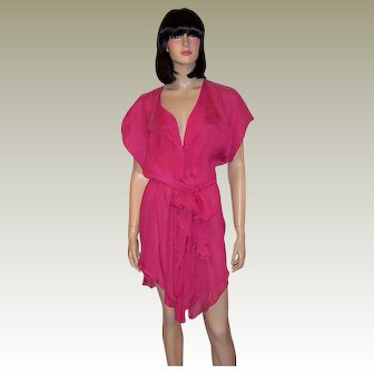 La Perla-Raspberry Sorbet House Wrapper or Cover-Up