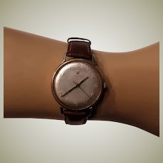 Pre Owned 1950's Vintage Luxury Men's ROLEX Watch 9 Karat Gold